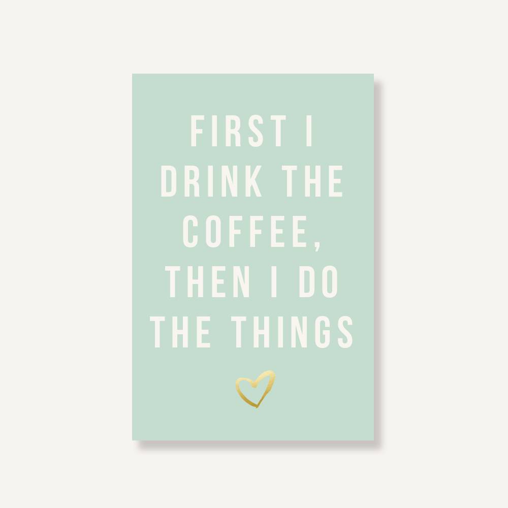 """2019 January 2019 December 2019 6/"""" x 9/"""" First I Drink The Coffee Then I Do The Things Weekly /& Monthly Planner: Heart"""